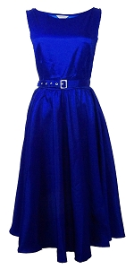 (XS-XXL) Dance Night Audrey Dress - BLUE <br><br> Classy 40s 50s vintage inspired frock