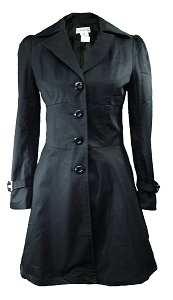 (XS-28) Rainy Night in Paris Jacket - BLACK <br><br> Victorian Goth Gothic Steampunk Cosplay Style Coat Jacket